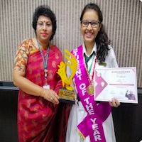 Dr. APJ Abdul Kalam Outstanding Student of the year Award 2017-18 – Sneha Roy