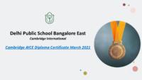Cambridge AICE Diploma Certificate March 2021