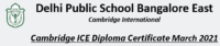 Cambridge ICE Diploma Certificate March 2021